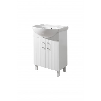 "Floor standing Washbasin Cabinet ""PROXI NEW-56"", white"