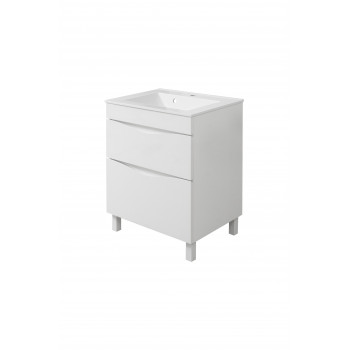 "Floor standing Washbasin Cabinet ""SMILE"" (70 cm.), white"