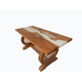 Купити дубові столи з масиву з епоксидною смолою