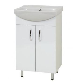 """Тумба підлогова """"Церсанія 55"""" з умивальником """"Церсанія 55"""", біла для ванної кімнати"""