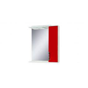"""Дзеркало """"Лаура 75"""" з шафкою, червоне"""