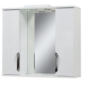 """Дзеркало """"Лаура 100"""" з шафками, біле для ванної кімнати"""