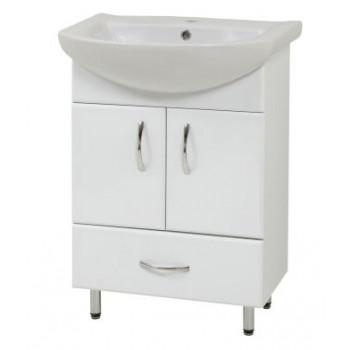 """Тумба підлогова """"LR-60-2"""", біла з умивальником """"Лібра 60"""" для ванної кімнати"""