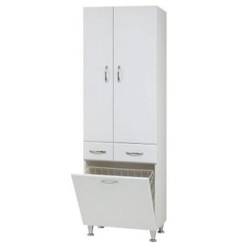 """Пенал з корзиною """"Р-3-К"""", білий для ванної кімнати"""