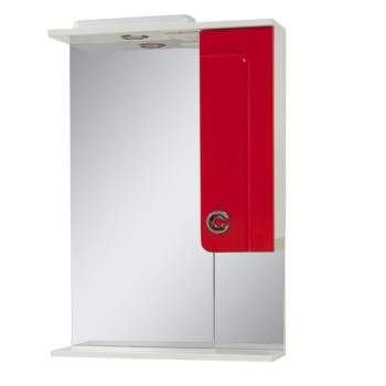 Mirror with a cabinet ELIZA (56 cm), red
