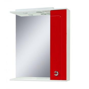 "Mirror with a cabinet ""ELIZA"" (70 cm), red"