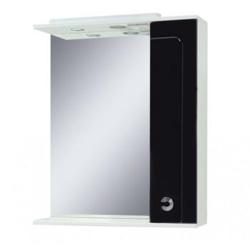 Mirror with a cabinet ELIZA (70 cm), black