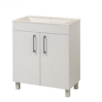 """Тумба підлогова """"Рокка"""", з умивальником """"Рокка 67"""", біла для ванної кімнати"""