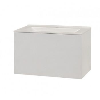 """Тумба консольна """"Рокка"""" з умивальником """"Рокка 67"""", біла для ванної кімнати"""