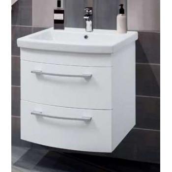 """Тумба консольна """"Сопрано 60"""" з умивальником """"Сопрано 60"""", біла для ванної кімнати"""
