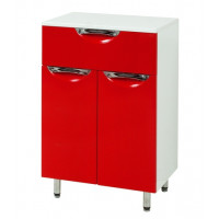 "Floor standing Vanity Drawer Unit ""LAURA"" (50 cm.), red"