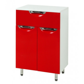 Floor standing Vanity Drawer Unit LAURA (50 cm.) - red