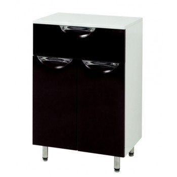 Floor standing Vanity Drawer Unit LAURA (50 cm.) , black