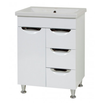 "Washbasin Cabinet ""LAURA 60"" with drawers, white"
