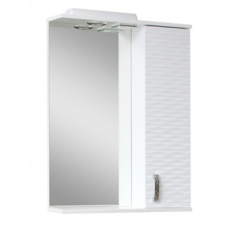 """Дзеркало """"3 Д-60"""" з шафкою, біле для ванної кімнати"""