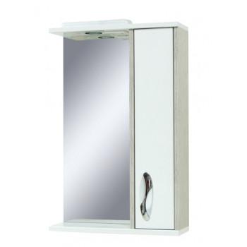 """Дзеркало """"Сіріус"""" 55 з шафкою (вінтаж/орфео) для ванної кімнати"""