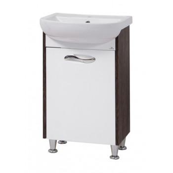 """Тумба підлогова """"Сіріус 50"""" з умивальником """"Артеко 50"""", (вінтаж/орфео) для ванної кімнати"""