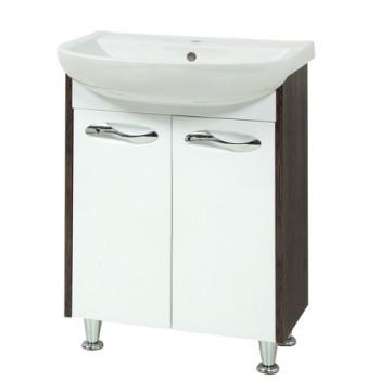 """Тумба підлогова """"Сіріус 55"""" з умивальником """"Артеко 55"""", (вінтаж/орфео) для ванної кімнати"""