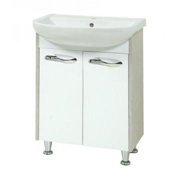 """Тумба підлогова """"Сіріус 60"""" з умивальником """"Артеко 60"""", вінтаж/орфео для ванної кімнати"""