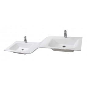 "Bathroom Washbasin ""DOUBLE"" 170, white"