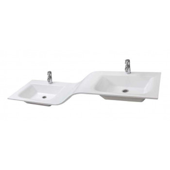 "Bathroom Washbasin ""DOUBLE"" 170, white"