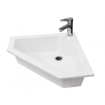 Bathroom Washbasin CORNER 55, white