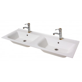 "Bathroom Washbasin ""DOUBLE 125"", white"