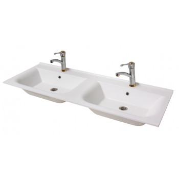 """Умивальник """"Подвійний 125"""", білий для ванної кімнати"""