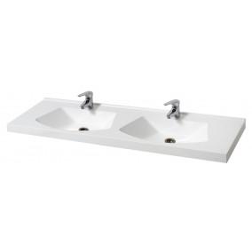 "Bathroom Washbasin ""DOUBLE 150"", white"