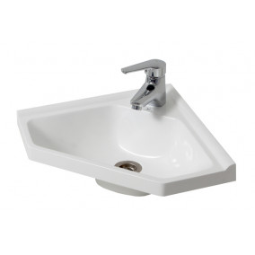 Bathroom Washbasin CORNER 40, white