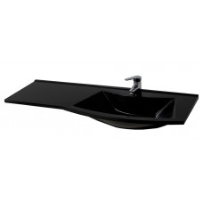 "Bathroom Washbasin ""SLAVUTA 120"", white/black"