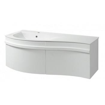 """Тумба консольна """"Хвиля 110"""" з умивальником """"Хвиля 110"""", біла для ванної кімнати"""
