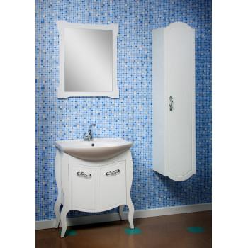 """Тумба підлогова """"Роксолана 70"""" з умивальником """"Secilia 70"""", біла для ванної кімнати"""