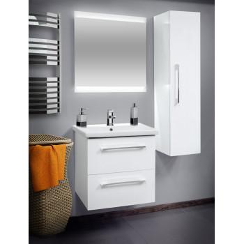"""Пенал консольний """"Старт"""", білий для ванної кімнати"""