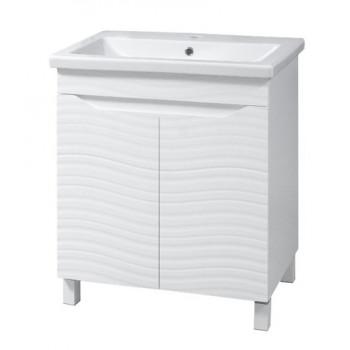 """Тумба підлогова """"Атланта 50"""" БШ  з умивальником """"Como 50"""", біла для ванної кімнати"""