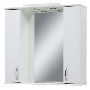 """Дзеркало з шафками """"Z"""" 100, біле для ванної кімнати"""